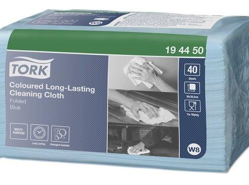 Tork Tork Long Lasting  Gevouwen Reinigingsdoek Blauw W8 (40 stuks)