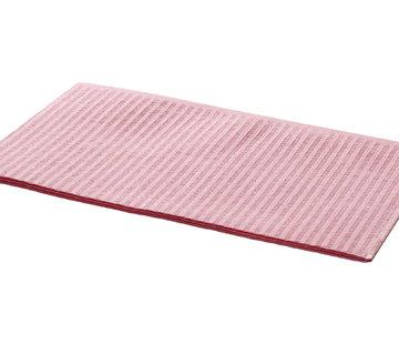 DispoDeals Dental Towels 33x45cm roze 500 stuks (3-laags)