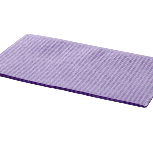 DispoDeals Dental Towels 33x45cm paars (3-laags)