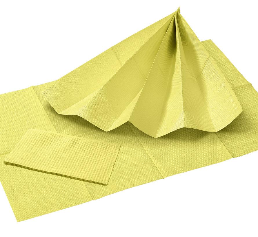 Dental Towels 33x45cm geel (3-laags)