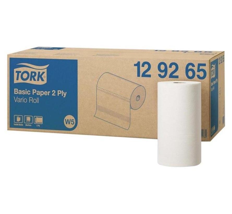 Tork Basic Paper poetspapier 28x23cm rol (2-laags)