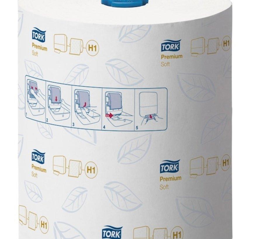 Tork 290016 Premium handdoek 21 cm x 100 m rol - 2 laags (6 rollen)