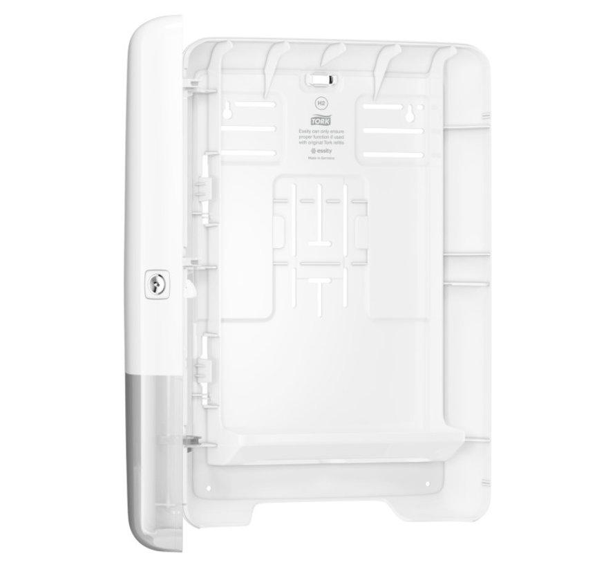 Tork H2 Xpress Multifold dispenser met 21x26cm interfold - 2 laags handdoeken (21x 150 stuks)