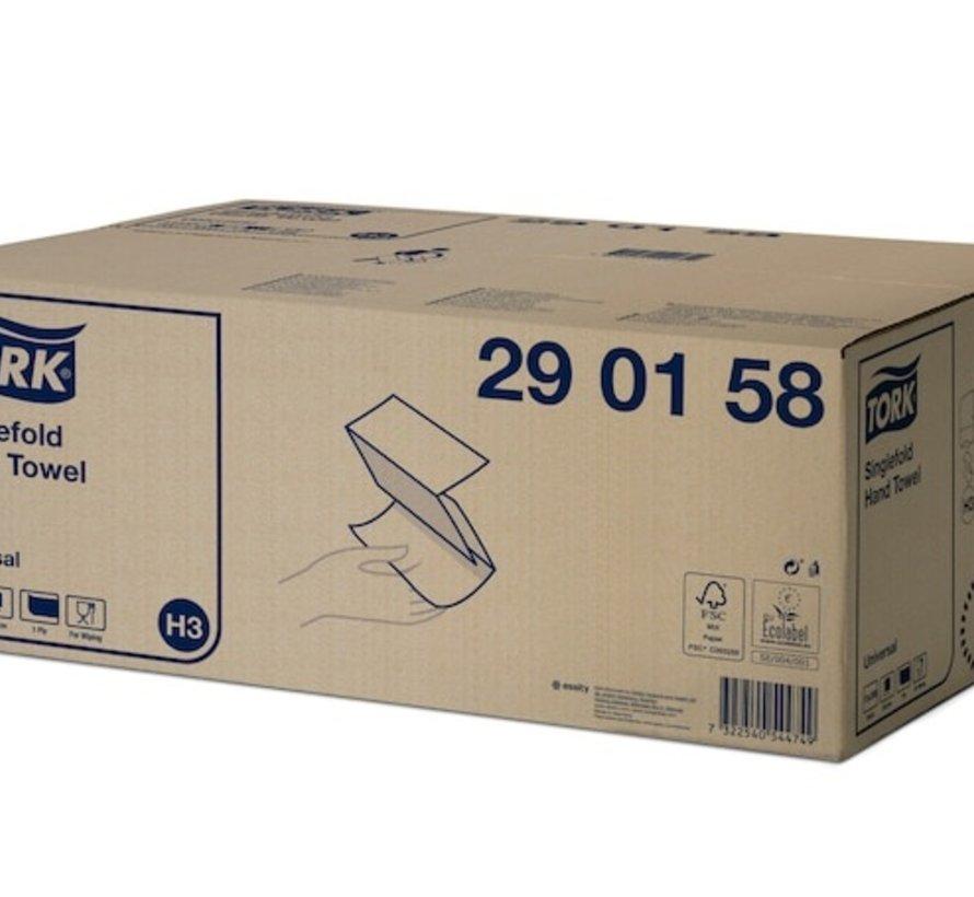 Tork H3 Mini Dispenser met 23 cm x 24,8 cm - 1 laags handdoeken (15x 300 stuks)