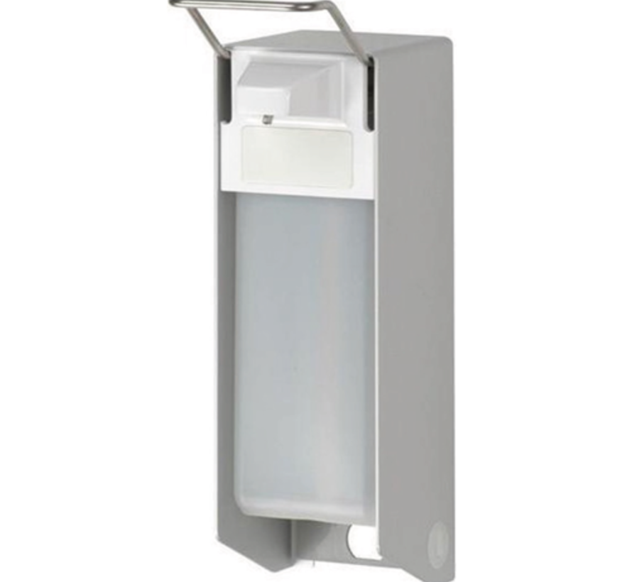 Universele wand/muur dispenser van medische kwaliteit inclusief lege 500 ml fles (per stuk)