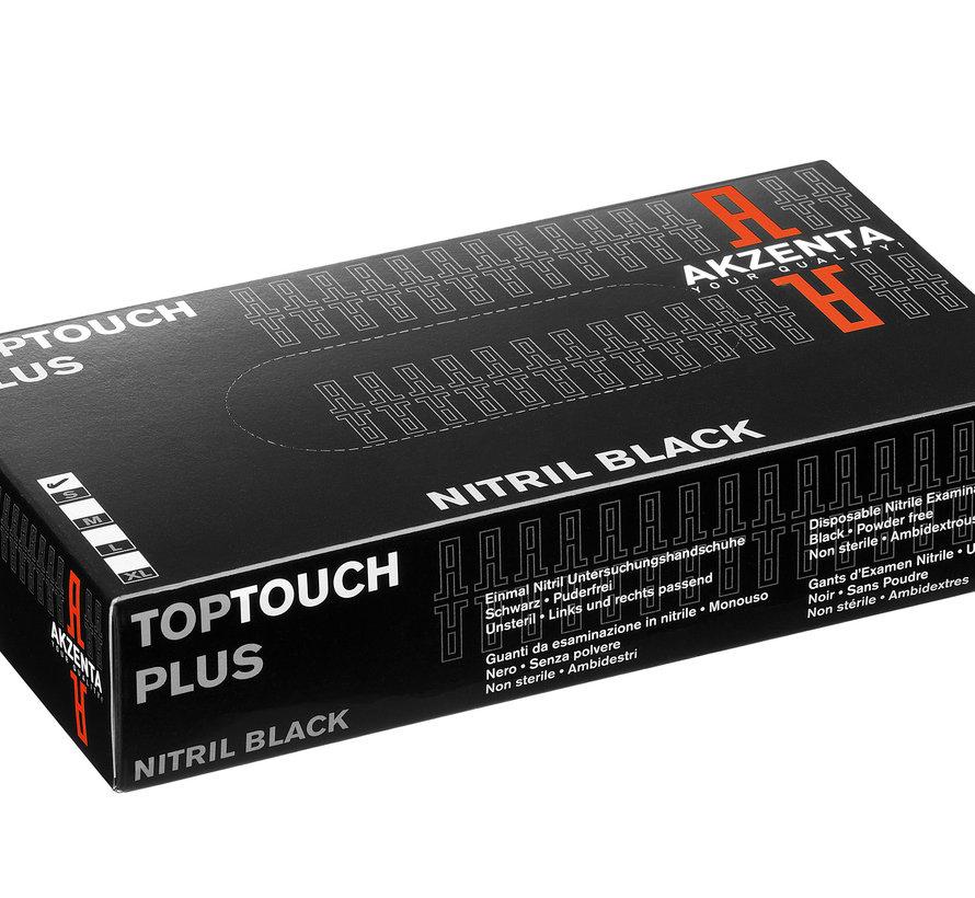 Akzenta Top Touch Plus zwarte nitriel handschoenen maat small (100 stuks)