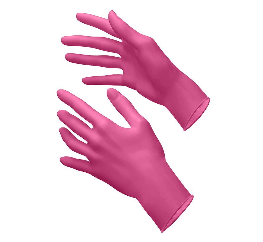 Akzenta Style roze nitriel handschoenen maat large (100 stuks)
