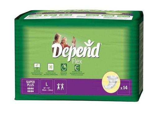 Depend Depend Flex Super Plus incontinentie - Large (14 stuks)