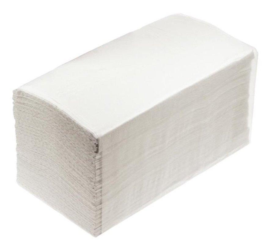 Handdoeken 3-laags 21,5x41,5cm wit (20x100 stuks)
