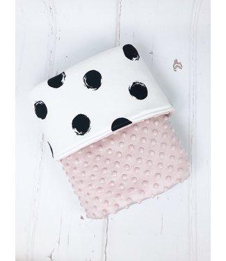 Deken Oudroze Minky & Big Dots