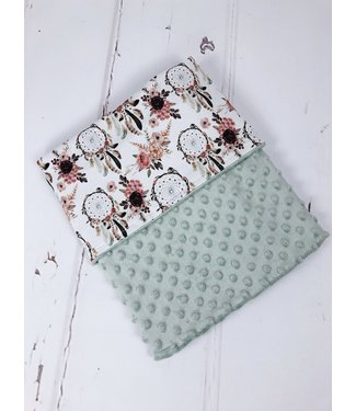 Blanket Powdergreen Minky & Boho