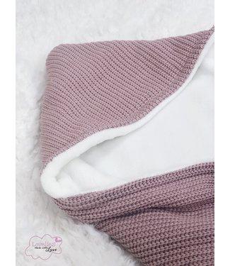 Wikkeldeken Oudroze Knit & offwhite Wellness