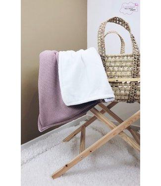 Deken Oudroze Knit & Offwhite Wellness