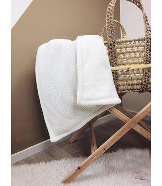 Blanket Offwhite Knit & Offwhite Wellness Fleece