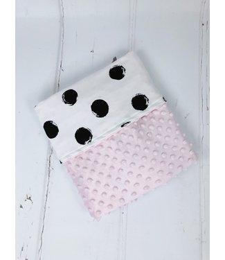 Deken Big Dots & Roze Minky