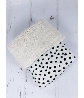 Blanket Crazy Dots & Ecru Teddy