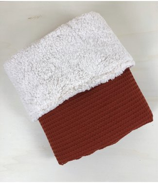 Blanket Terra Waffle & Ecru Teddy