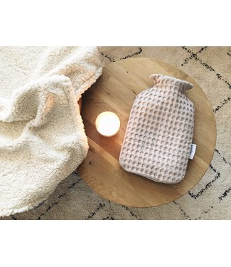 Hot Water Bottle Cover Large Waffle Beige
