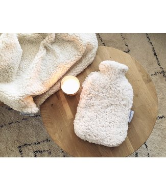 Hot Water Bottle Cover Ecru Teddy