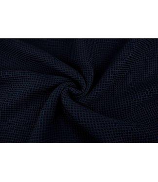 Navy Blauw Wafel