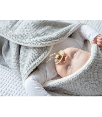 Maxi Cosi Blanket Light Grey Bébé & Offwhite Wellness