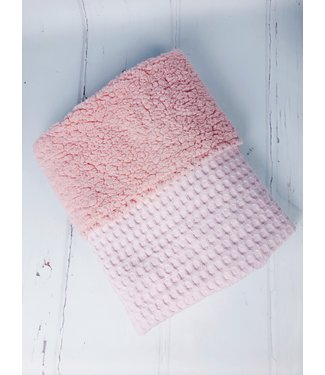 Wiegdeken Roze Grove Wafel & Roze Teddy
