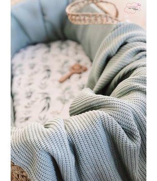 Decke Pulver Grun Knit