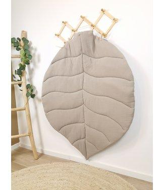 XL Leaf Playmat Beige & Grey Hydrofiel