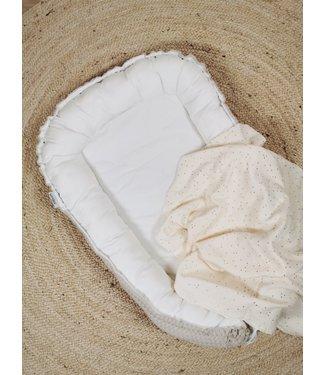 Babynest Beige Grobe Waffel- Ecru Baumwolle