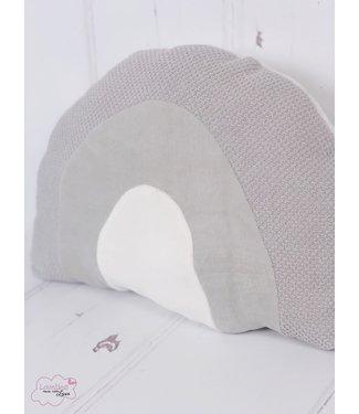 Rainbow Cushion Grey