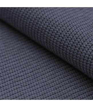 Enkele Deken Jeansblauw Knit