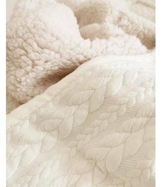 Blanket Ecru Cable & Ecru Teddy
