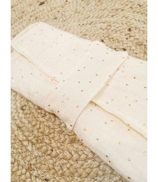 Diaper Clutch Gold Dots
