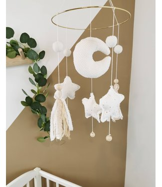 Baby Mobile Gold Stars