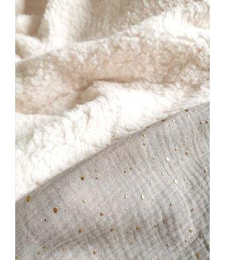 Decke Zand und Gold Dots & Ecru Teddy - Copy