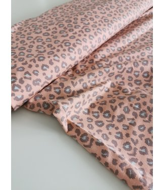 Coral Leopard French Terry