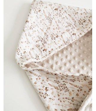 Wrap Blanket Dried Flowers & Ecru Minky