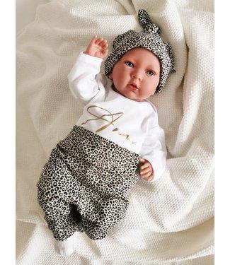Geknotete Mütze Mini Leopard