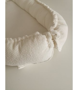 Babynest Offwhite Waffel Bebe & Offwhite Mousseline