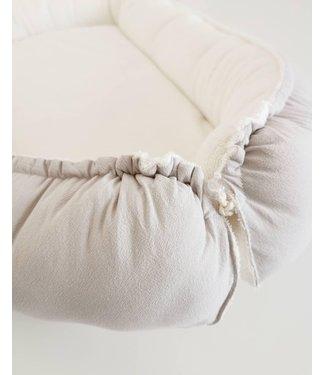 Babynest Kiezel Washed Cotton & Offwhite Badstof