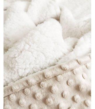 Blanket Beige Minky & Ecru Teddy