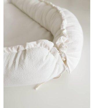 Babynest Offwhite Washed Cotton
