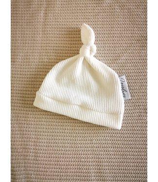 Geknotete Mütze Soft Rib Offwhite
