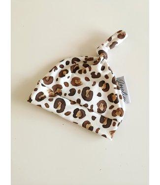 Geknotete Mütze Leopard