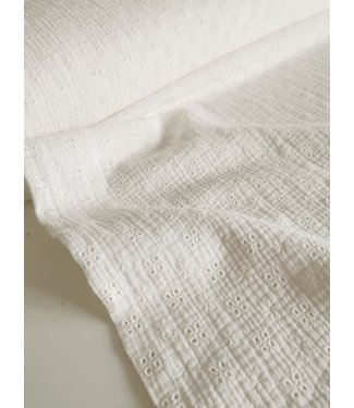Hydrofieldoek/Swaddle Embroidery Offwhite Small