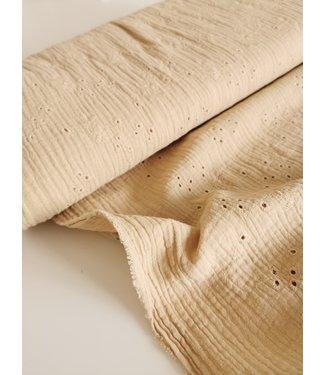 Hydrofieldoek/Swaddle Embroidery Beige