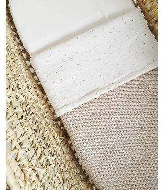 Blanket Gold Dots & Sand Knit