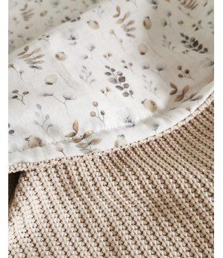 Deken Sand Knit & Nature Hydrofiel