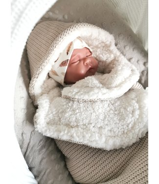 Maxi Cosi Blanket Sand Knit & White Teddy
