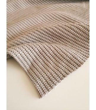 Enkele Deken Kiezel Knit
